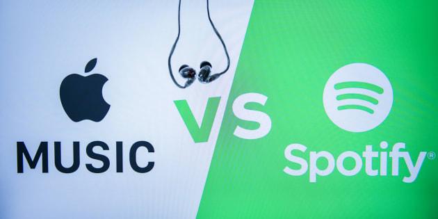 Spotify dépose plainte contre Apple devant la Commission européenne (Photo d'illustration prise le 11 octobre 2017 à Hong Kong).
