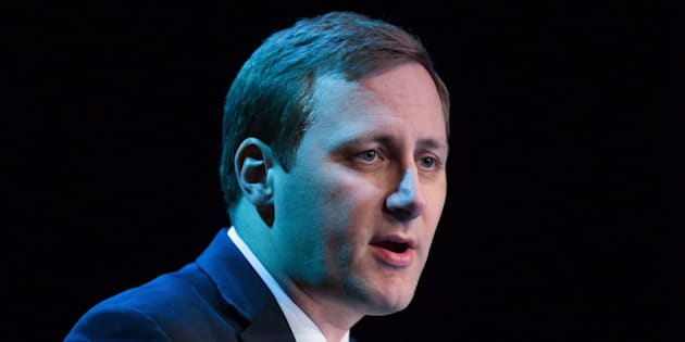 Tory MP Brad Trost speaks during a federal Conservative Party leadership debate in Vancouver, B.C., on Feb. 19, 2017.