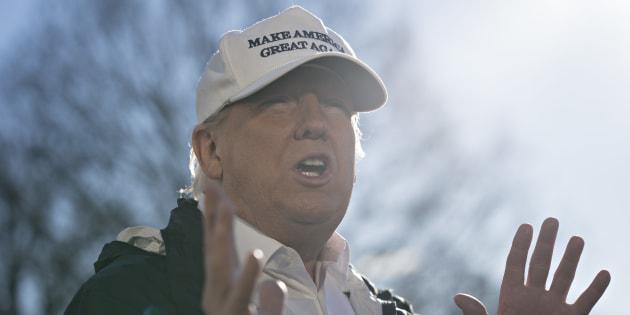 Donald Trump à la Maison Blanche à Washington le 10 janvier 2019.
