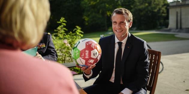 Emmanuel Macron à l'Elysée le 6 juillet 2018.