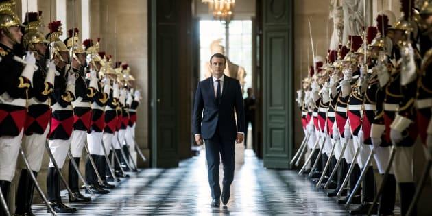 Emmanuel Macron lors de son précédent discours devant le Congrès réuni à Versailles.