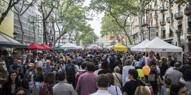 (Photo d'illustration: Les Ramblas de Barcelone, le 23 avril 2018)