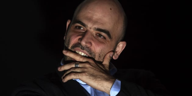 NAPLES, CAMPANIA, ITALY - 2019/02/18: Press conference by Roberto Saviano, a writer and expert on Neapolitan organized crime and the mafia, camorra. (Photo by Salvatore Laporta/KONTROLAB /LightRocket via Getty Images)