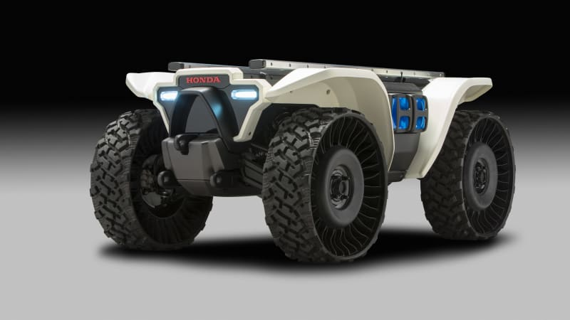 photo image Honda robots, vehicles powered by new Mobile Power Packs