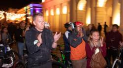 📷 Rinden homenaje a ciclistas europeos asesinados en