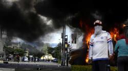 FOTOS: Cohete pirotécnico de la CNTE impacta helicóptero oficial en acto de
