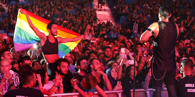 In October, Egyptian security forces arrested 57 people in a wave of arrests triggered by the raising of a rainbow flag at a concert.