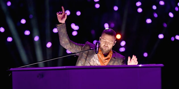 L'hommage de Justin Timberlake à Prince à la mi-temps du Super Bowl ce 4 février 2018.