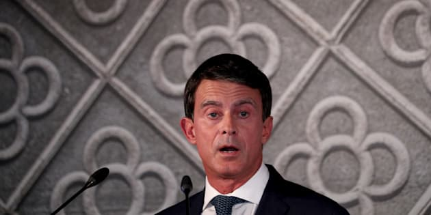 Manuel Valls manifestera avec la droite et l'extrême droite contre le PS espagnol au pouvoir (photo d'illustration de Manuel Valls lors de l'officialisation de candidature à la mairie de Barcelone en septembre 2018)
