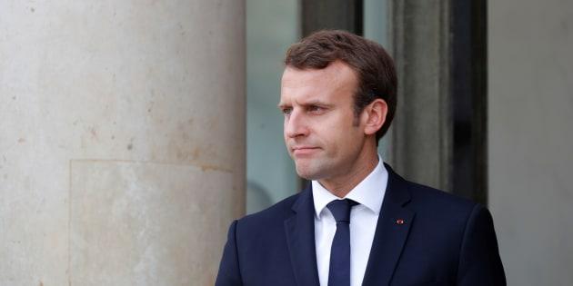 Emmanuel Macron à l'Élysée le 9 octobre 2017.