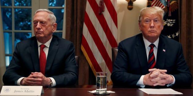 Donald Trump et Jim Mattis à la Maison Blanche le 23 octobre.