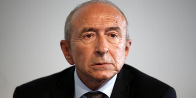 """""""Il n'y aura pas de centre"""" d'accueil d'urgence pour les migrants à Calais, a annoncé Gérard Collomb."""