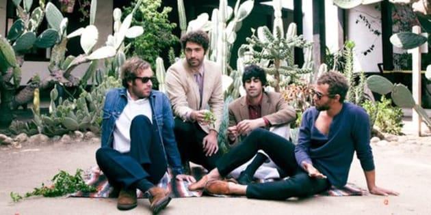 Les quatre membres du groupe de rock américain Allah-Las.