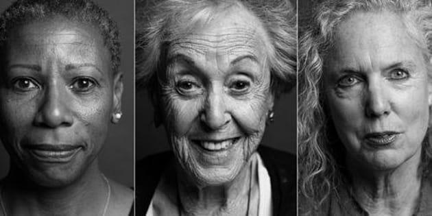 Women embracing their wrinkles.