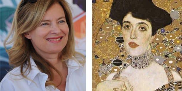Valérie Trierweiler et Adèle Bloch-Bauer peinte par Gustav Klimt.