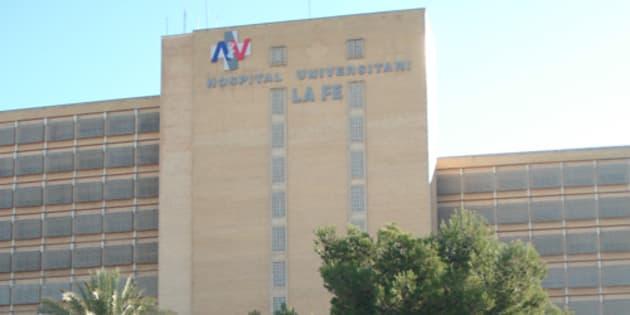 Fachada del antiguo Hospital La Fe (Valencia).