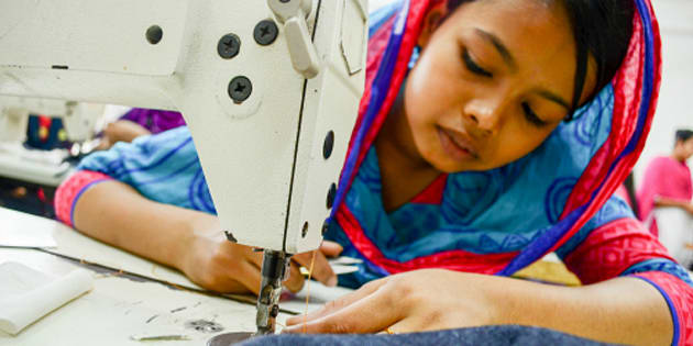 Bithi and many teenagers like her work long hours for little pay in Bangladesh's clothing factories.