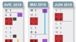 Le calendrier des grèves SNCF et Air France, entre vacances de printemps et jours