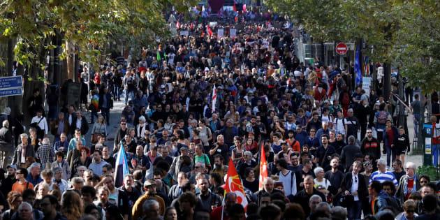 Des manifestants dans les rues de Paris, le 21 septembre (Image d'illustration).