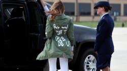 La veste portée par Melania Trump suscite la