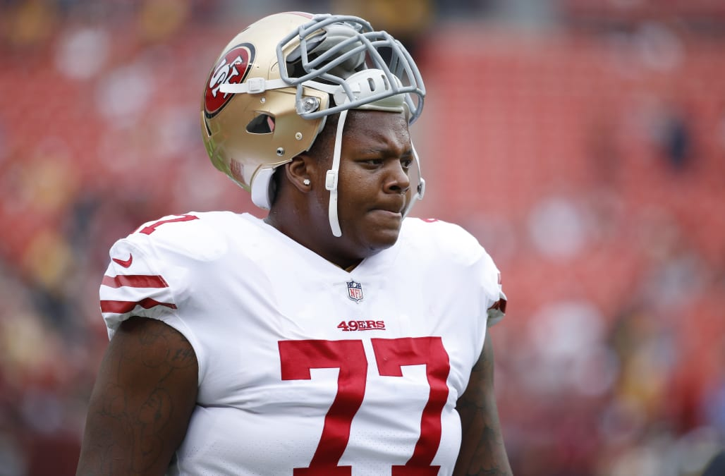 wholesale dealer 860b5 eddff 2018 NFL draft: 49ers trade tackle Trent Brown to New ...