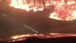 Des automobilistes échappent de justesse aux incendies qui ravagent le