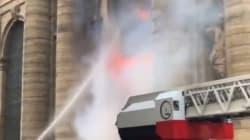L'incendie à l'église Saint-Sulpice,