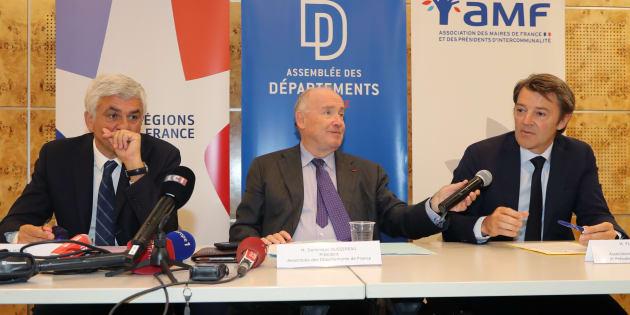 Le président des régions Hervé Morin, le président des départements Dominique Bussereau et le président des maires François Baroin annoncent le boycott de la Conférence des territoires.