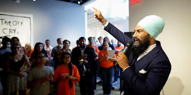New Democratic Party federal leadership candidate Jagmeet Singh speaks a meet and greet event in Hamilton, Ont., July 17, 2017. Picture taken July 17, 2017.