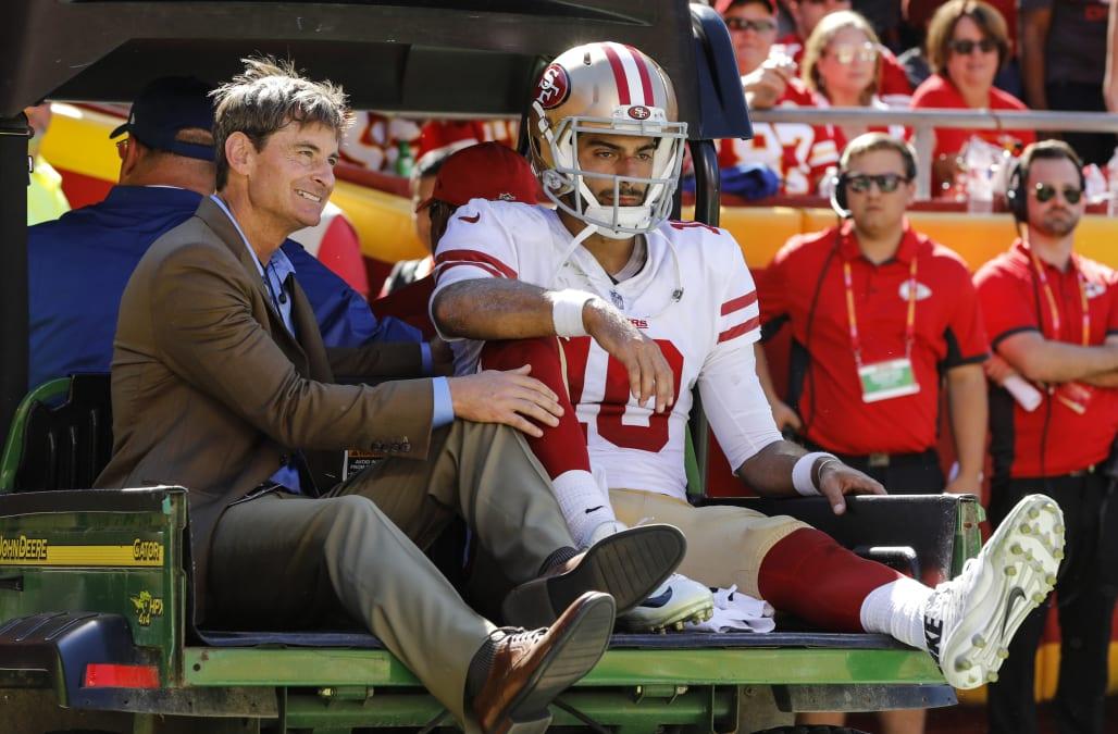 It doesn t look good   49ers fear Jimmy Garoppolo suffered a season-ending  knee injury 4d55dfd90