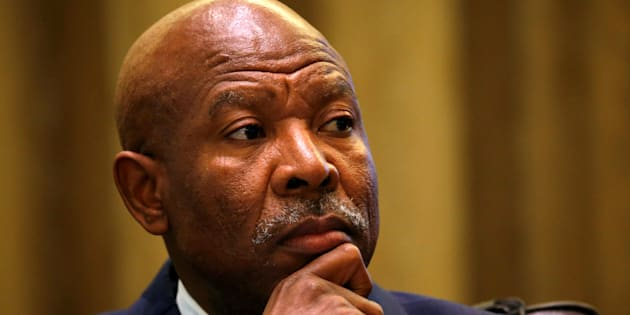South African Reserve Bank governor Lesetja Kganyago listens during a briefing at Parliament in Cape Town, South Africa, August 1, 2017.