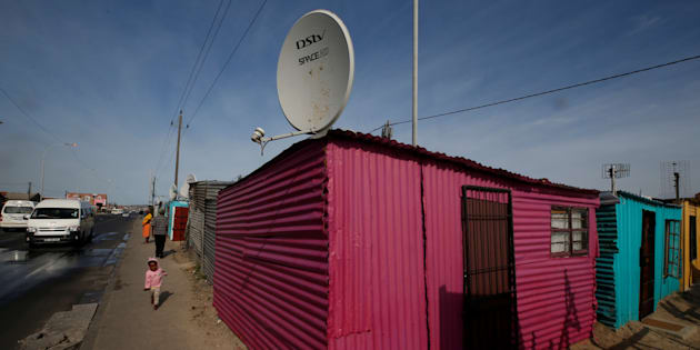 A DStv satellite dish in Khayelitsha township, Cape Town, May 25, 2017. DStv belongs to MultiChoice, a Naspers company.
