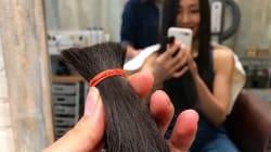 初めてのヘアドネーション(髪の毛の寄付)