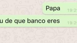 WhatsApp: la conversación sobre bancos entre un padre y una hija que no puede ser más