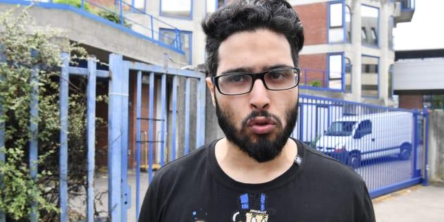 Jawad Bendaoud (ici à Bobigny le 25 avril) en garde à vue pour outrage et rébellion.