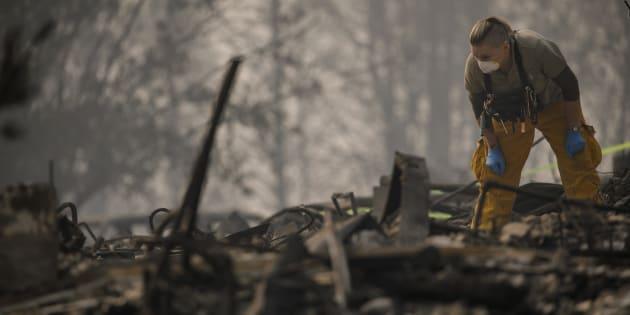 Les services de secours continuent d'œuvrer sans relâche dans l'espoir de retrouver des survivants et d'endiguer l'avancée des flammes.