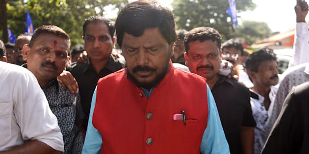 Minister of State for Social Justice and Empowerment Ramdas Athawale.