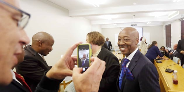 Tom Moyane seen in Parliament on November 28 last year in Cape Town.