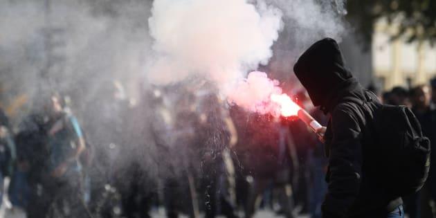 Des manifestants à Paris le 9 octobre 2018.