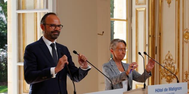 Edouard Philippe et Elisabeth Borne à Matignon lundi 7 mai.