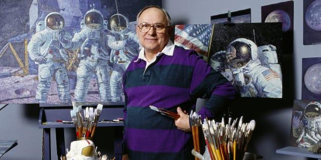 Mort de l'astronaute Alan Bean, le quatrième homme à avoir marché sur la Lune.
