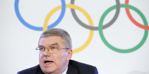 Thomas Bach, President of the International Olympic Committee, attends a news conference after an Executive Board meeting on sanctions for Russian athletes, in Lausanne, Switzerland on Dec. 5, 2017.