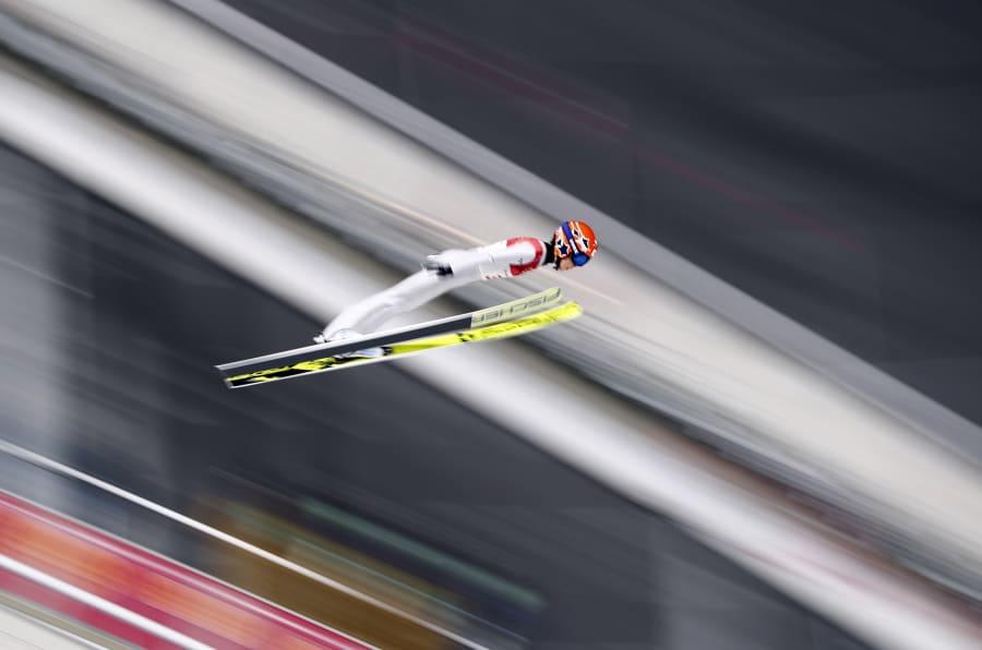 Ski Jumping ? Pyeongchang 2018 Winter Olympics ? Women?s Normal Hill Individual Trial round ? Alpensia Ski Jumping Centre - Pyeongchang, South Korea ? February 12, 2018 - Yuki Ito of Japan competes. REUTERS/Dominic Ebenbichler