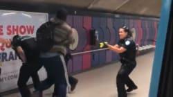 Les policiers maîtrisent un homme intoxiqué à l'aide d'un «Taser» dans le