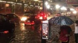 🎥 La inundación del día: En Acapulco el agua llegó hasta los 30