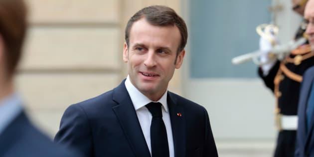 Emmanuel Macron à l'Élysée le 19 février 2019.
