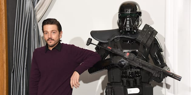 """""""Rogue One"""" actor Diego Luna, right, shared a story on social media that highlights the importance of inclusion in big Hollywood films."""