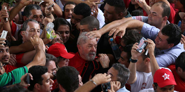 Lula durante sua caravana pelo Nordeste.