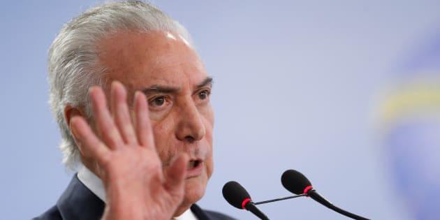 Michel Temer defende intervenção federal no Rio de Janeiro.
