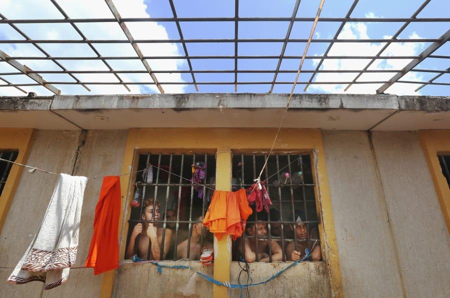 Detentos no Complexo Penitenciário de Pedrinhas, no Maranhão.